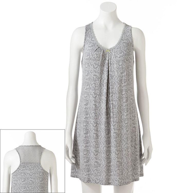 Apt. 9 sea goddess lace-trim chemise
