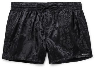Versace Short-Length Jacquard Swim Shorts