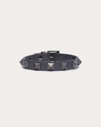 Valentino Garavani Uomo Rockstud Bracelet Man Black 100% Pelle Di Vitello - Bos Taurus OneSize