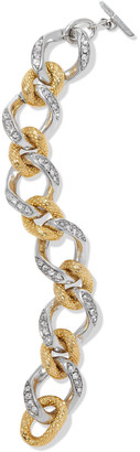 Ben-Amun 24-karat Gold And Silver-plated Crystal Bracelet