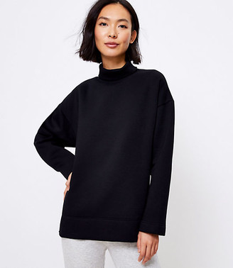 LOFT Lou & Grey Fleeceback Turtleneck Sweatshirt