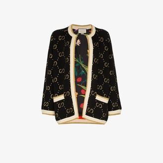 Gucci metallic knit GG jacket