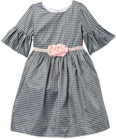 Laura Ashley Belle Sleeve Check Print Dress (Toddler & Little Girls)