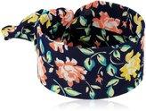 Laundry by Shelli Segal Fabric Tie Blue Cuff Bracelet