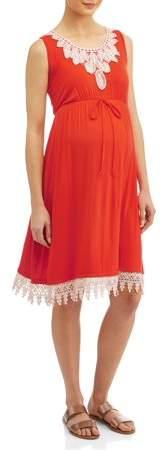 Liz Lange Maternity Swing Dress with Crochet Detail