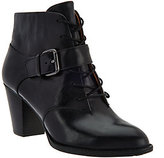 Sofft Lace Up Ankle Booties w/Buckled Strap - Wendy