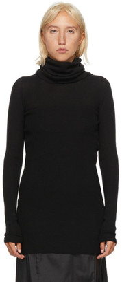 Rick Owens Black Wool Turtleneck