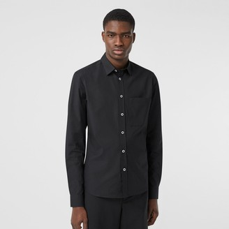 Burberry Sim Fit Stretch Cotton Popin Shirt