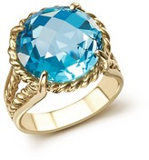 Bloomingdale's Blue Topaz Round Briolette Statement Ring in 14K Yellow Gold