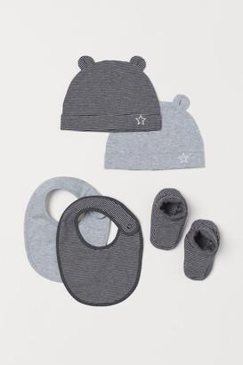 H&M 5-piece Jersey Set - Gray