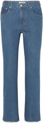 Elizabeth and James Holden Two-tone High-rise Straight-leg Jeans