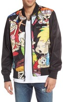 Members Only Men's Nickelodeon Reversible Bomber Jacket