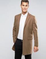 New Look New Look Wool Overcoat In Camel