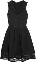 Maje Macramé and ponte mini dress