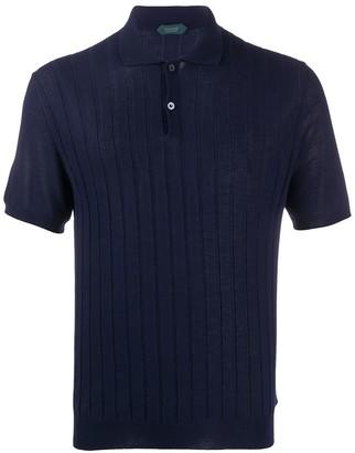Zanone Ribbed Polo Shirt