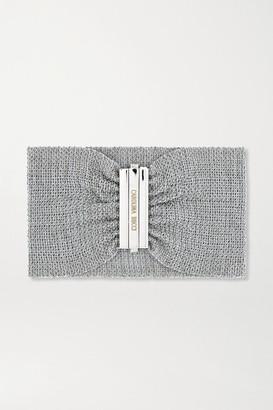 Carolina Bucci Pinched 18-karat White Gold And Silk Bracelet