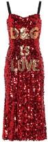 Dolce & Gabbana Sequined midi dress