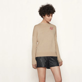 Maje Wool sweater with embroidery