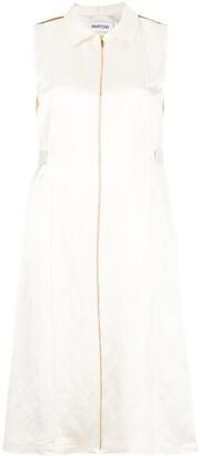 PARTOW Sleeveless Shirt Dress