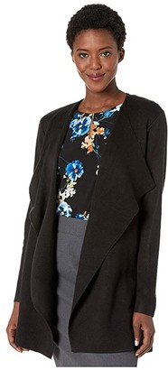 Calvin Klein Open Flyaway Cardigan (Black) Women's Clothing