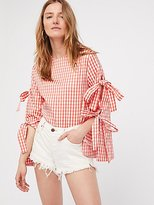 Style Mafia Gingham Top With Sleeve Detail by at Free People