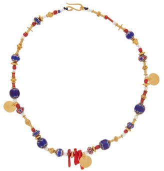 Katerina Makriyianni - Venetian Glass-bead & 24kt Gold-vermeil Necklace - Multi