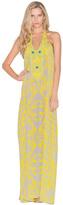 Caffe Swimwear - Long Halter Embellished Dress In Yellow