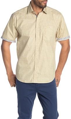 Bugatchi Crosshatch Short Sleeve Classic Fit Shirt