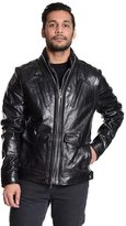 Excelled Men's Excelled Double-Zip Leather Moto Jacket