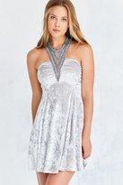 Kimchi & Blue Kimchi Blue Diamondette Velvet Babydoll Mini Dress