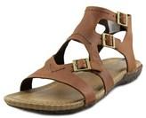 Merrell Whisper Buckle Women Open Toe Leather Tan Gladiator Sandal.