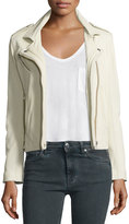 IRO Han Leather Moto Jacket, Vanilla