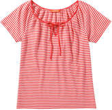Joe Fresh Women's Print Peasant Tee, Red (Size S)
