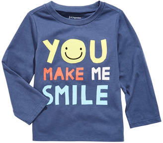 First Impressions Toddler Boys Smile-Print Cotton T-Shirt