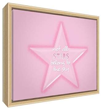 Camilla And Marc Feel Good Art Eco-Printed and Framed Nursery Canvas with Solid Natural Wooden Frame (44 x 34 x 3 cm, Medium, Multicolour, Not All Stars Belong to The Sky)