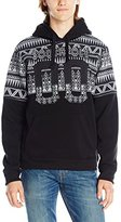 Southpole Men's Pull Over Hoodie with All Over Aztec Horizontal