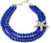 Amrita Singh Tulum Starfish Statement Bib Necklace, Blue