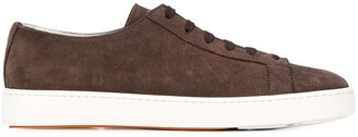 Santoni Contrast Sole Sneakers