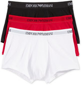 Emporio Armani Men's 3 Pack Cotton Trunks