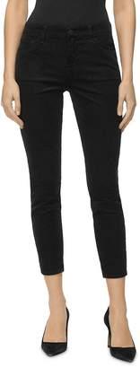 J Brand 835 Mid Rise Cropped Skinny Corduroy Pants in Black