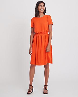 Ann Taylor Petite Matte Jersey Flare Dress