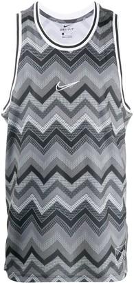 Nike Dri-FIT chevron-print tank top