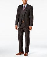 Lauren Ralph Lauren Men's Slim-Fit Brown Glen Plaid Flannel Vested Suit