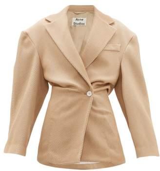 Acne Studios Onesta Cinched Waist Wool Blend Jacket - Womens - Beige