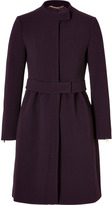 Moschino Wool Belted Coat with Zippered Cuffs