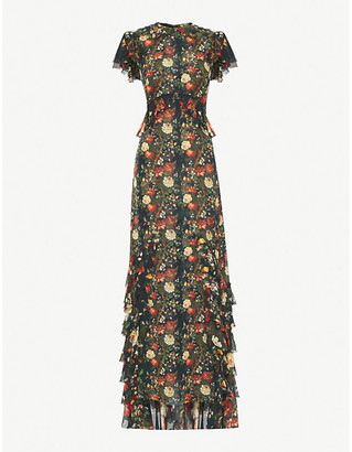 The Vampire's Wife The Frill Seekers floral-print silk-chiffon maxi dress