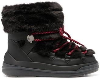 Moncler Faux-Fur Snow Boots