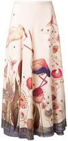 Vilshenko flamingo print skirt - women - Silk - 8