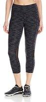 Calvin Klein Women's Miramar Stripe Croshortsleeveover Side Pocket Crop Tight