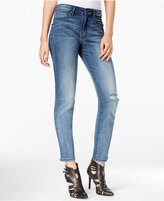 William Rast Distressed Dark Secret Wash Straight-Leg Jeans